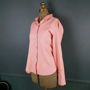 Gap 1969 pink chambray button down shirt S